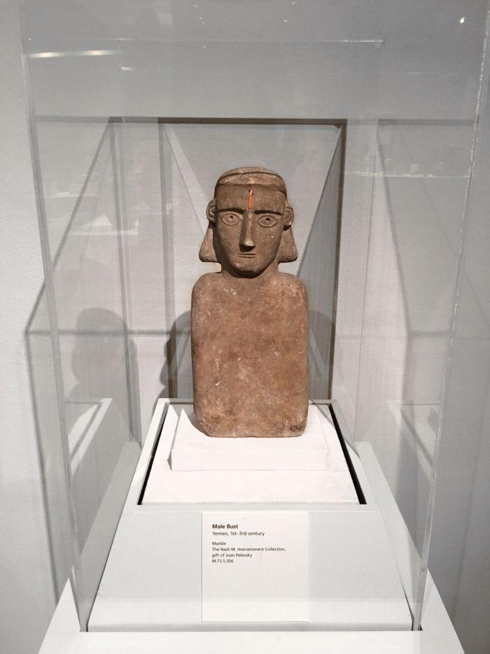 Male Bust Yemen, 1st-3rd Century, Marble